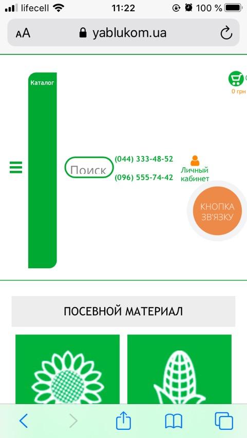 ошибка, сайт отображается некорректно на мобильном на Safari (iPhone)
